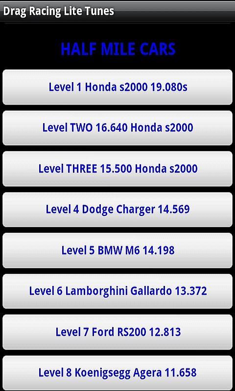 Drag Racing Pro Tunes Lite 2.0