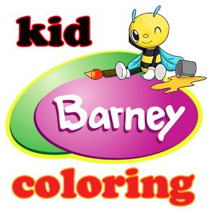 kid baby barney coloring