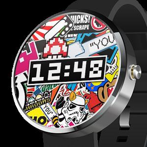 Sticker Bombing Watch Face