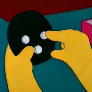 Bart Simpson`s gadget bart simpson doing lisa