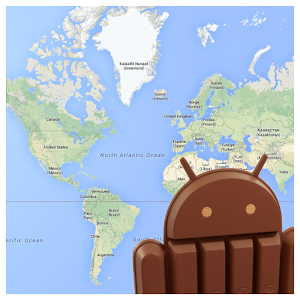 Android KitKat Map android information kitkat