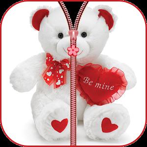 Teddy Bear plush Zipper UnLock