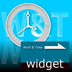 Work&Time time tracking Widget sticker time