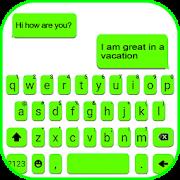 Neon Green Chat Keyboard Theme