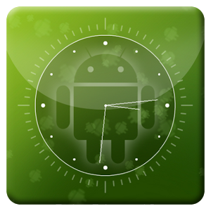 Green android L Analog Clock