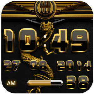 dragon digital clock gold