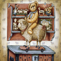 Vintage Bear Sheep GO LOCKER