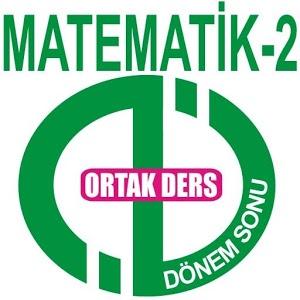 AÖF DÖNEMSONU MATEMATİK-2
