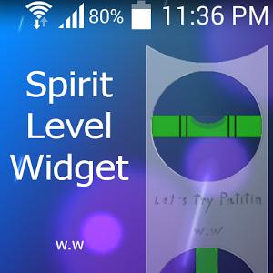 spirit level widget