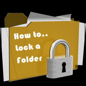 How to Lock a Folder folder machine simple