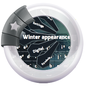 Winter appearance GO Keyboard appearance