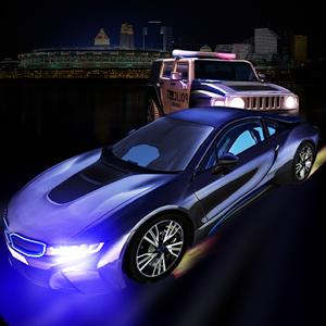 Police car chase 3D simulator