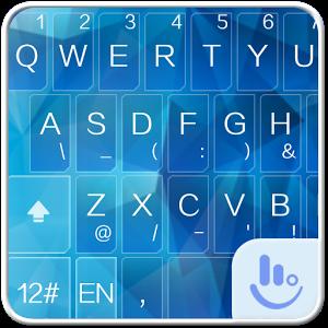Icy Blue Keyboard Theme