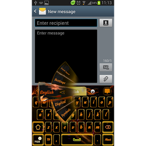 GO Keyboard Orange Flame PRO