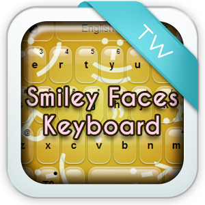 Keyboard with Smiley Faces text message smiley faces