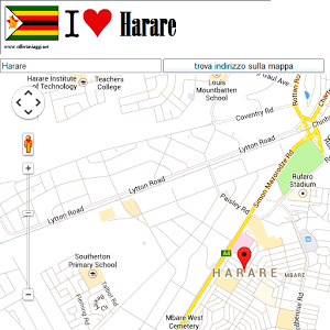 Harare maps