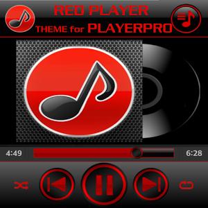 PlayerPro Skin AUDIO RED