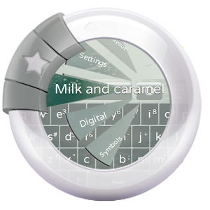 Milk and caramel GO Keyboard