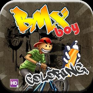 Coloring BMX Boy coloring minecraftwiki