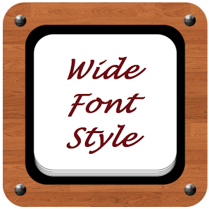 Wide Font Style wide open vigina