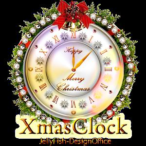 クリスマス時計ウィジェット002