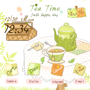 CUKI Theme Happy Tea Time happy rage time