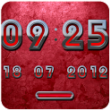 Android RED DIGITAL Clock android digital information