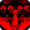 Digital Clock ANDROID RED android digital information