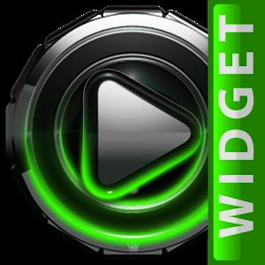 Poweramp widget Green Glow