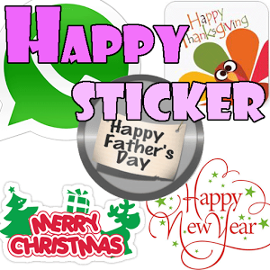 Happy Sticker-Whats App comic happy sticker