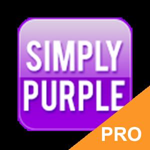 GO Keyboard Simply Purple PRO