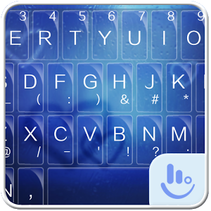 Blue Rain Keyboard Theme