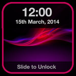 Xperia Lock Screen iOS style