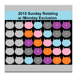 Rotating Day Off Monday Excl