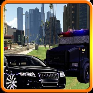 Police chase - hot asphalt