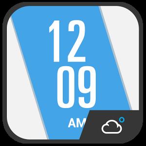 Oblique Clock Weather Widget