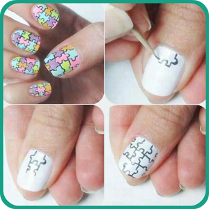Stylish Nails Step by Step 2 direction doa step