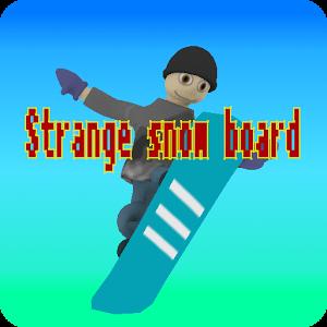 Strange snow board