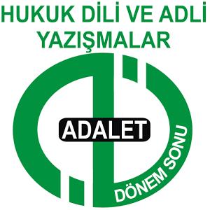 AÖF DÖNEMSON ADALET HUKUK DİLİ