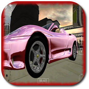 Airport Taxi Parking Cabrio 3D