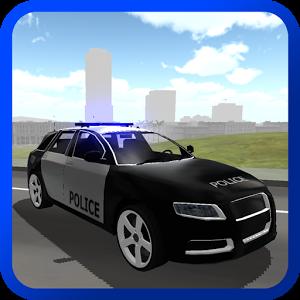 Family Police Car Driver