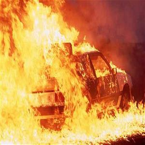Car Race in Fire