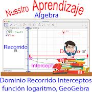 GeoGebra y las características función logaritmo