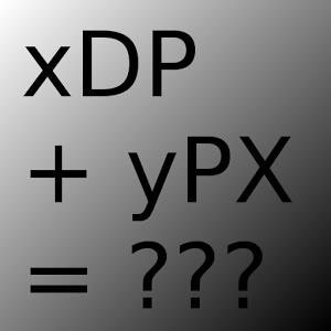 Dp/Pixel calclator