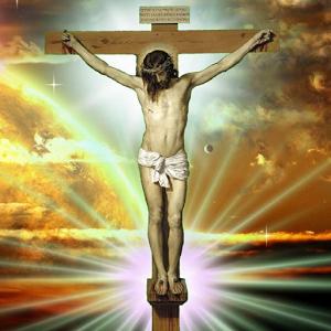 Jesus on the cross LWP jesus on cross stereogram