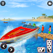 Speed Boat Water Taxi Driving Simulator
