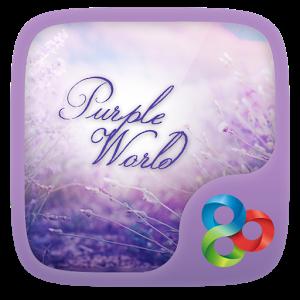 Purple World GO Launcher World world