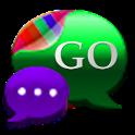 GO SMS Kiwi Kush Cobalt Theme