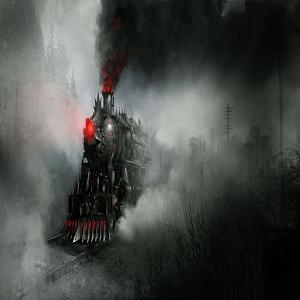 Awesome Steampunk Demon Train
