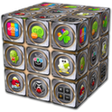 go launcher theme - metal_cube